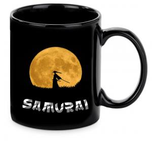 Samurai Bogre Fekete Felirat Ezust